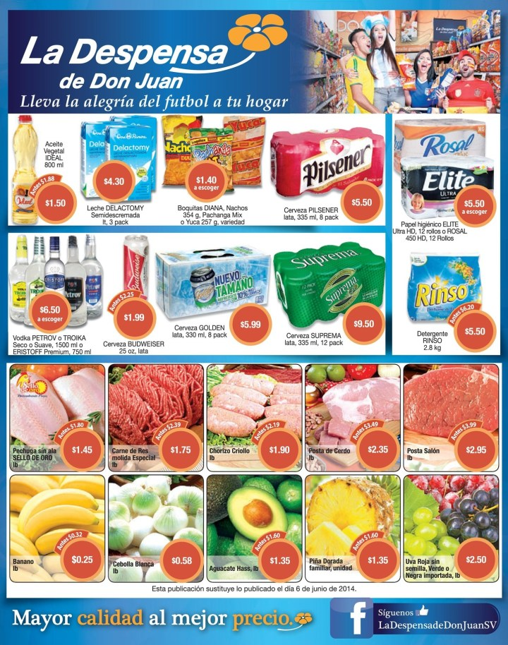 Estas son las ofertas de hoy DESPENSA DE DON JUAN - 13jun14