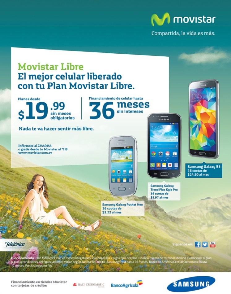 Financiaineto banco agricola SMARTPHONE samsung MOVISTAR - 24jun14