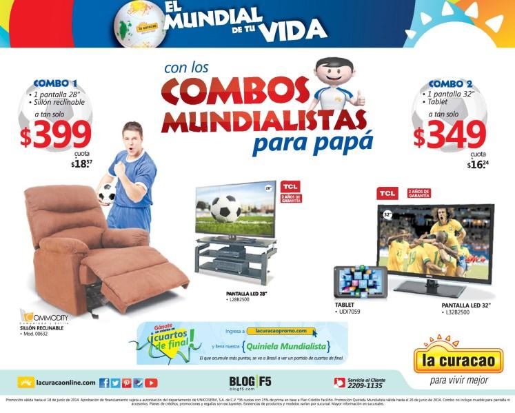 La Curacao promociones COMBOS mundialistas para PAPA - 16jun14