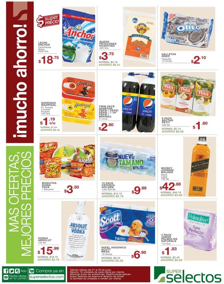 Ofertas compras del super selectos - 27jun14