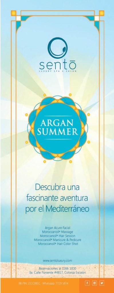 SENTO SPA luxory clinic ARGAN SUMMER