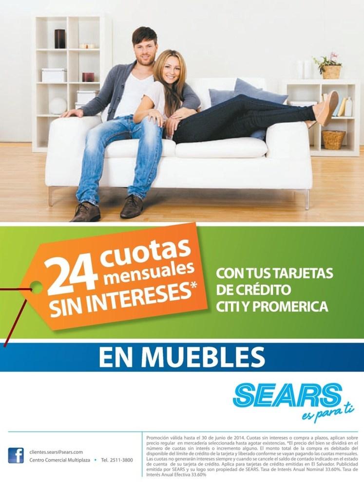 Tarjetas de credito CITI banco promerica MUEBLES promocion SEARS - 27jun14