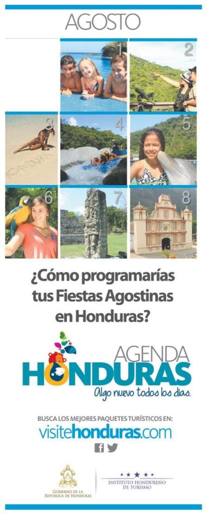 VisiteHonduras.com agenda para tus vacaciones agostinas - 30jun14