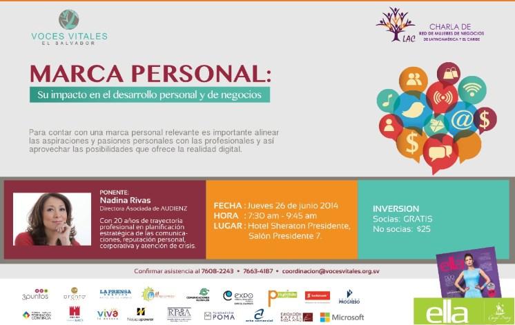 conferencia para mujeres MARCA PErSONAL - 23jun14