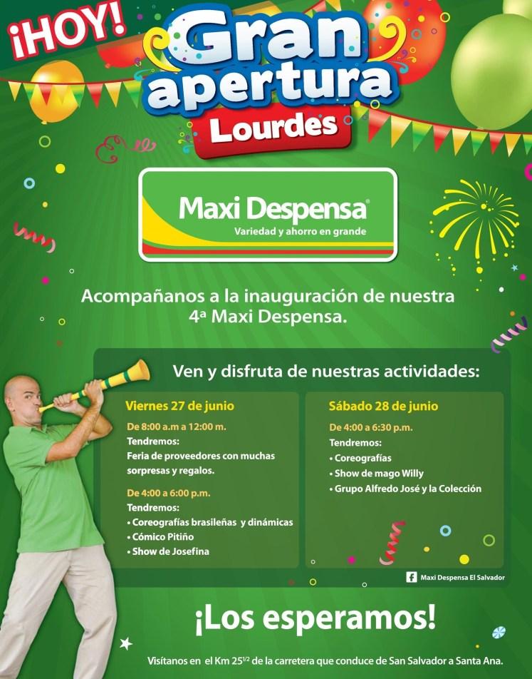 hoy GRAN APERTU nueva sucursal LOURDES max despensa - 27jun14