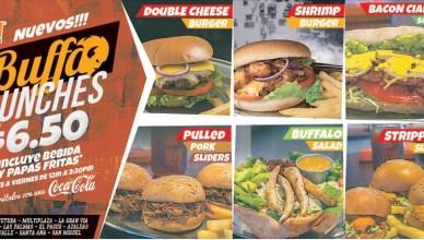 new BUFFALO Lunches desde 6.5 incluye papas fritas y bebida - 04jun14
