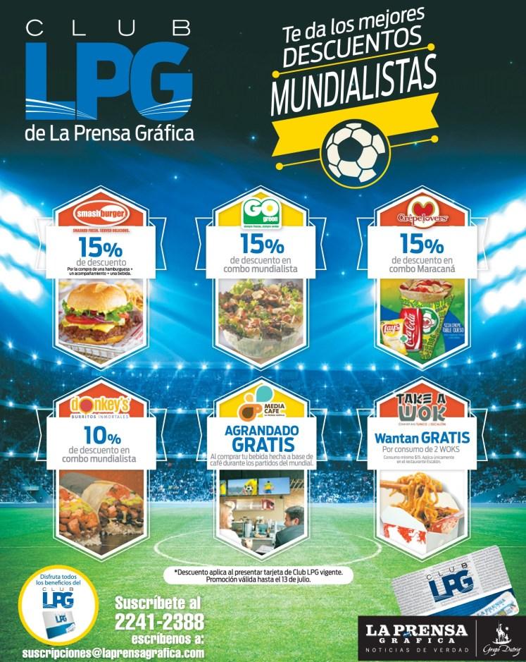 CLUB LPG de la prensa grafica descuentos restaurantes - 05jul14