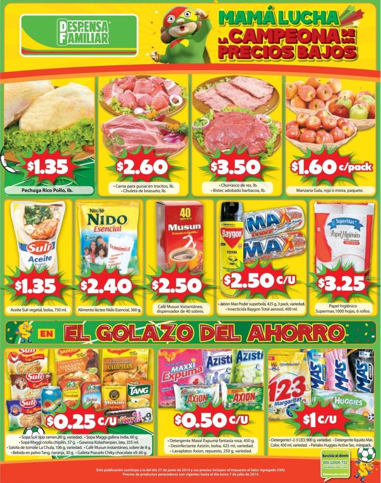 Ofertas Despensa Familiar precios bajos mas ahorro - 04jul14