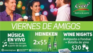 Viernes de amigos WINE NIGHTS promociones KREEF - 25jul14