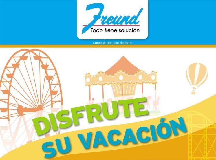 catalogo de vacaciones de AGOSTO ofertas FREUND ferreteria