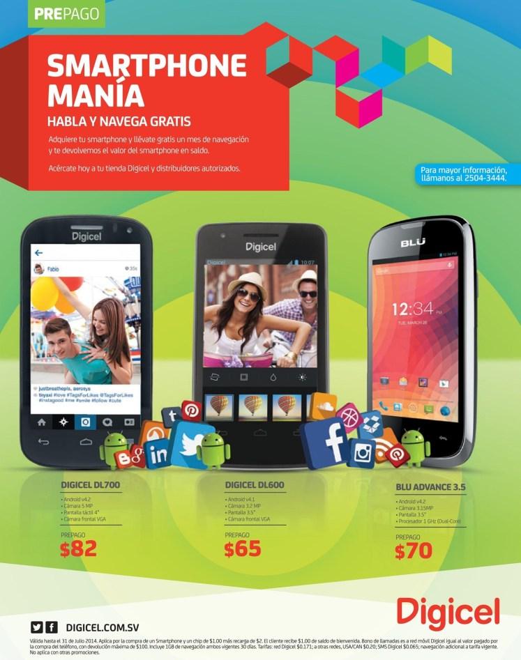 estas son las promociones smartphone mani de DIGICEL - 07jul14