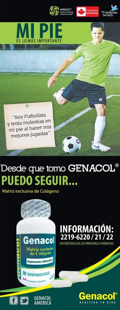 mejora las lesiones al jugar futbol GENACOL