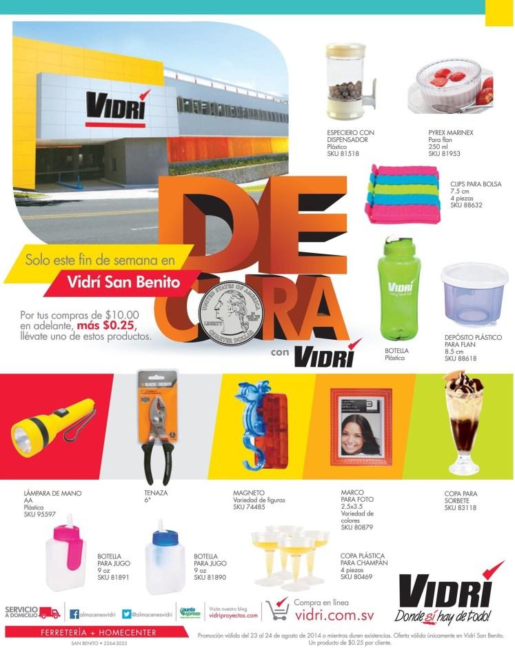 Ya viste las nuevas ofertas de VIDRI san benito - 23ago14