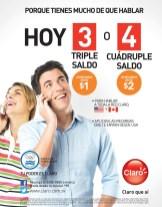 hoy saldo triplicado y cuadriplicado con CLARO promociones - 08ago14