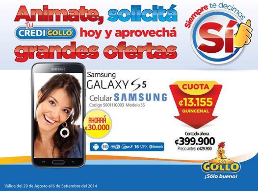 Ahorra en GOLLO compra tu samsung galaxy s5