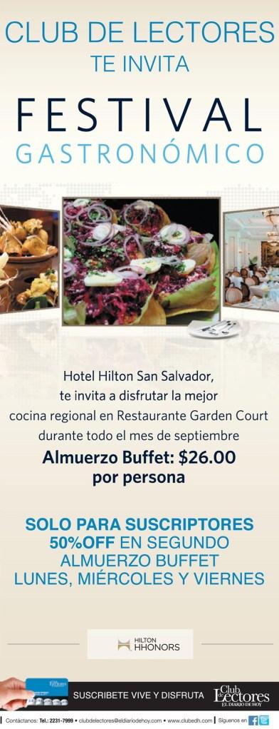 Almuerzo Buffet festival gastronomico san salvador 2014