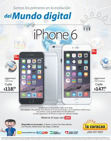 Disponible iPhone 6 en el salvador by LA CURACAO - 19sep14