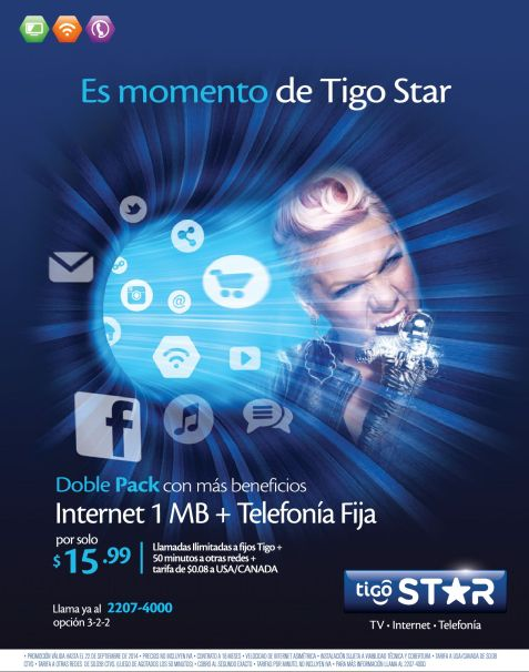 Doble pack promotion TV cable and internet home - 15sep14