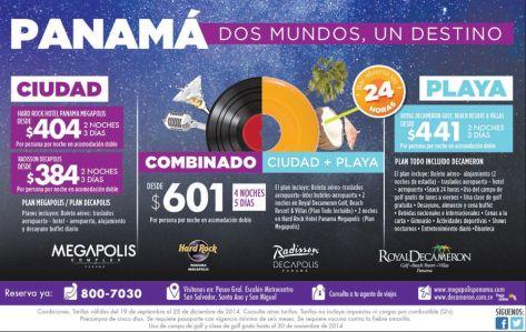ENJOY panama vacation MEGAPOLIS complex promotions - 19sep14