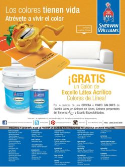 GRATIS galon d epintura excello latex - 15sep14