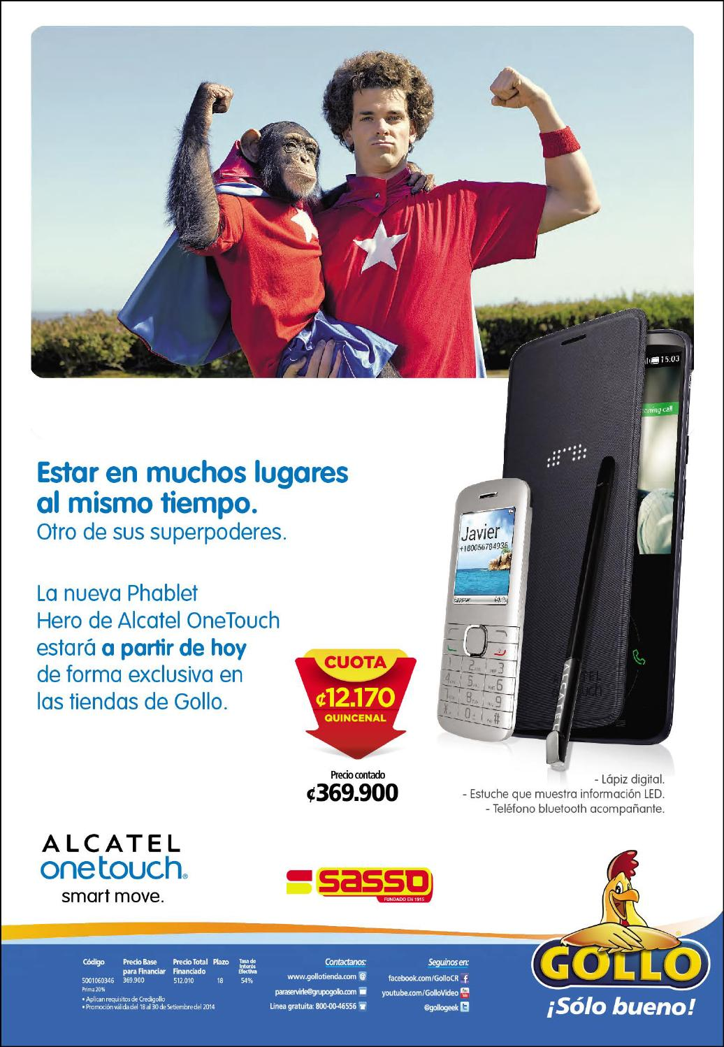 ONE TOUCH alcatel smart move GOLLO