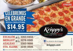 PIZZA cholotona Krisppys el salvador - 15sep14