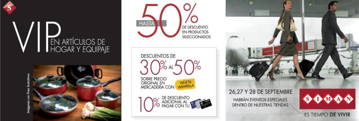 VIP sale home and travel accesories SIMAN ofertas - 26sep14