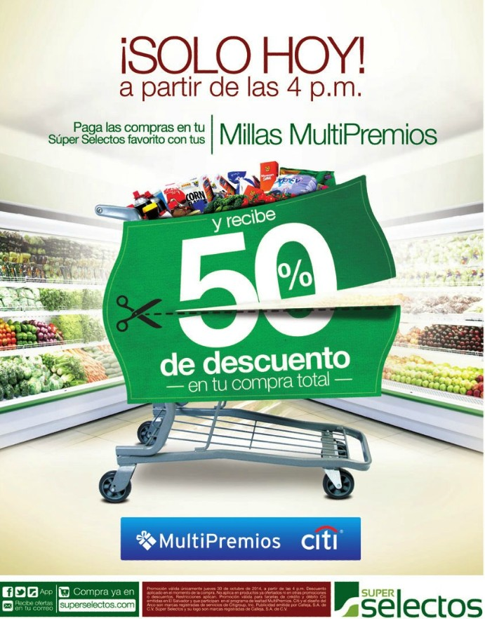 50 OFF al pagar con MILLAS MULTIPREMIOS de banco CITI - 30oct14