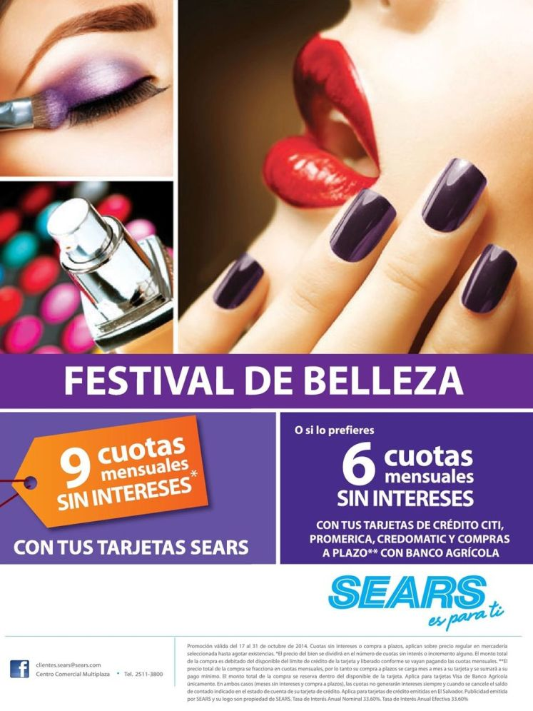 Beauty fest promotions SEARS el salvador - 17oct14