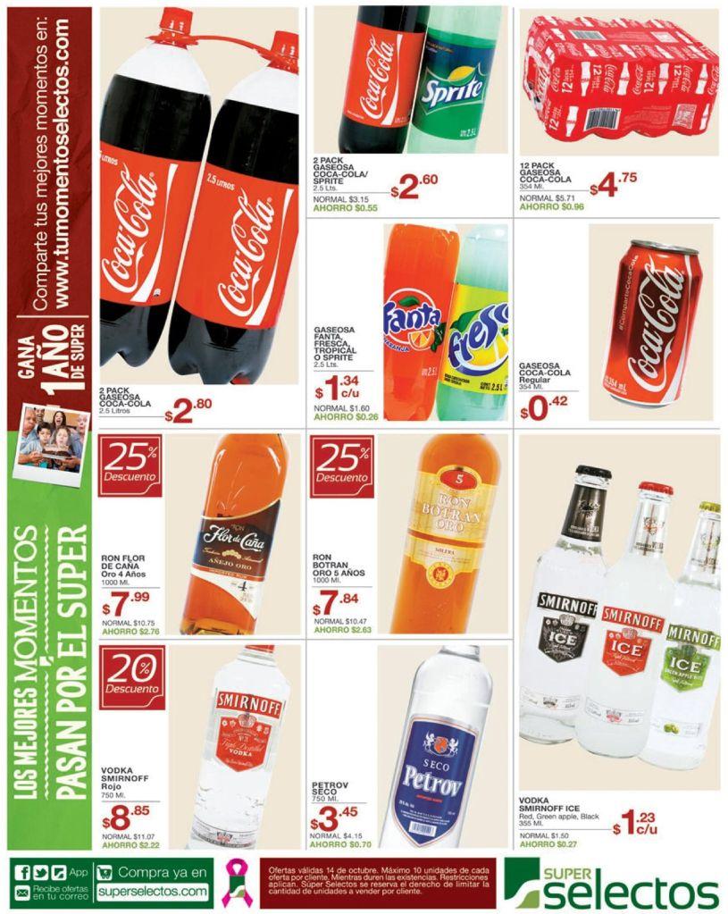 Bebidas con descuento ahora super selectos ofertas - 14oct14