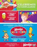 CHILDREN party birthday WENDYS promotions - 01oct14