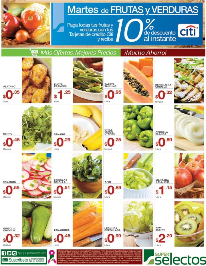 CITI bank descuento para compras en supermercado - 14oct14