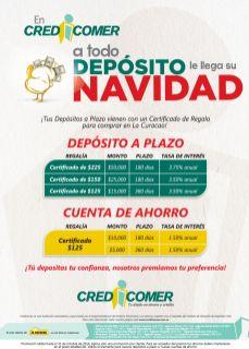 Certificados dinero con tus depositos en CREDI COMER - 03oct14