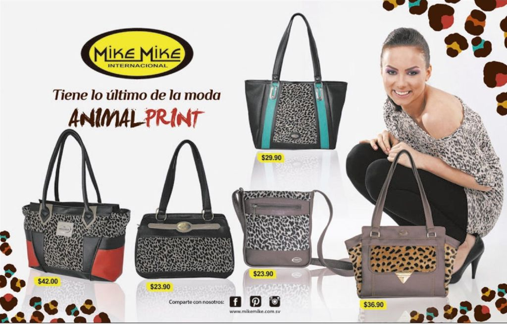 FASHION bag animal print pattern MIKE MIKE - 18oct14