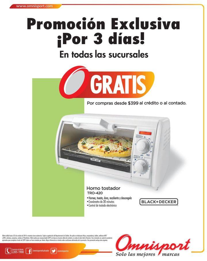 GRATIS horno tostador gracias a OMNISPORT - 24oct14