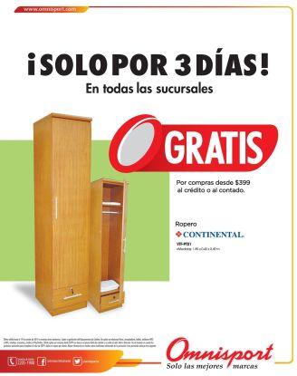GRATIS mini ropero OMNISPORT promociones - 17oct14
