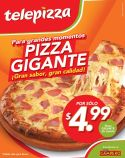 La pizza gigante mas barata TELEPIZZA de pollo campero - 07oct14