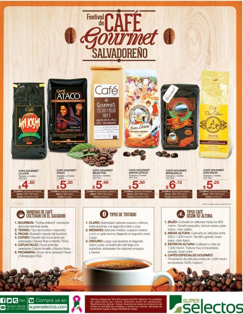 Ofertas FESTIVAL del CAFE gourmet salvadoreño - 16oct14