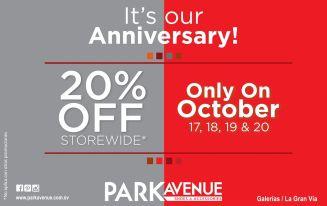 Ofertas LA GRAN VIA park avenue OFF store wide - 17oct14
