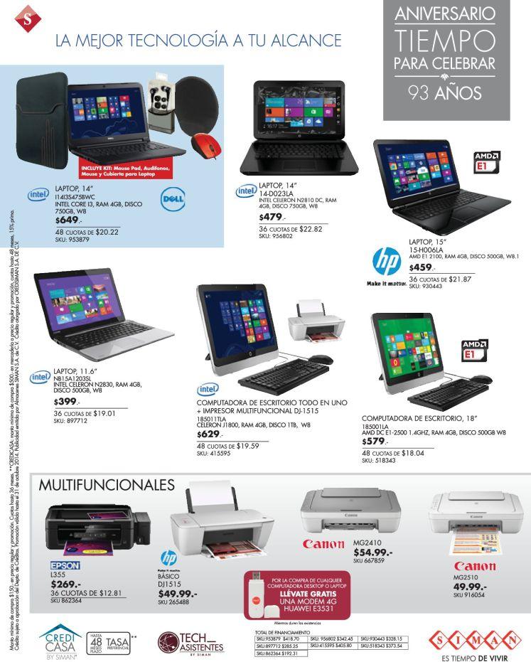 Ofertas computadoras de escritorio TODO en UNO procesador INTEL - 16oct14