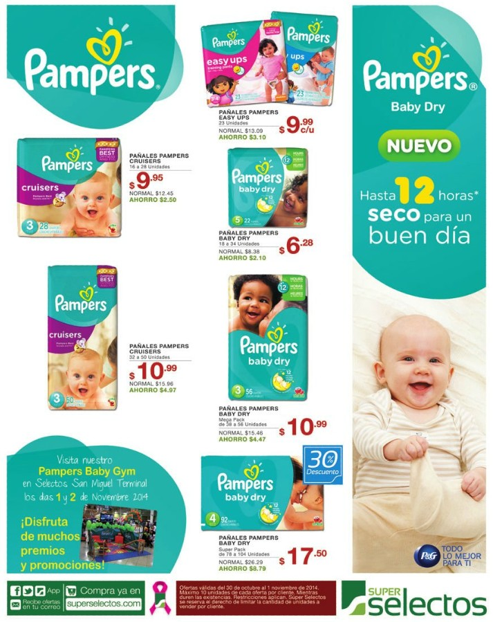 Ofertas y Descuentos en PAMPERS baby dry - 30oct14