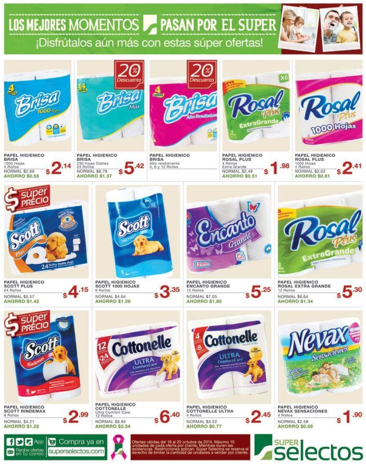 PAPEL HIGIENICO descuentos selectos supermercado - 18oct14
