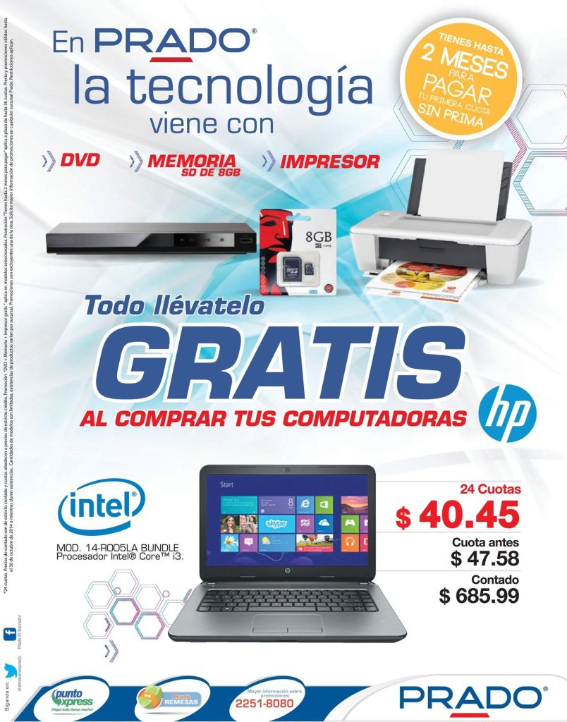 PRADO promociones en tecnologia computers laptops dvd - 27oct14