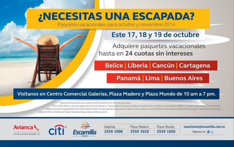 Paquetes Vacacionales OFERTAS cancun panama belice y mas - 18oct14