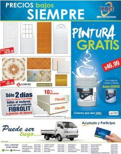 Promociones ferreteria LEMUS en pinturas y puertas - 13oct14