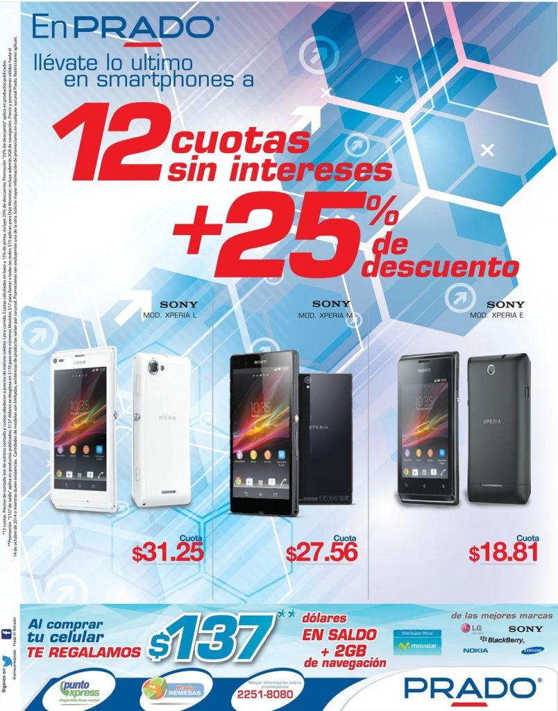 SONY xperia series smartphone PRADO descuentos - 11oct14