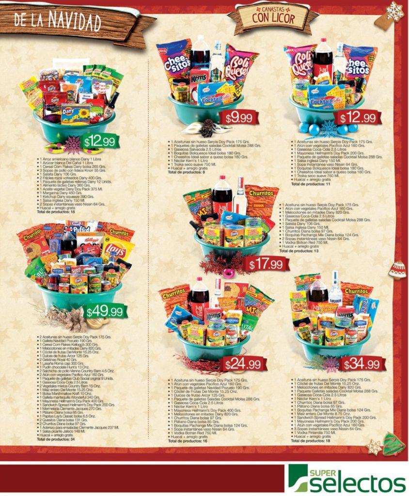 SUPER SELECTOS Comprar canastas navideñas 2014