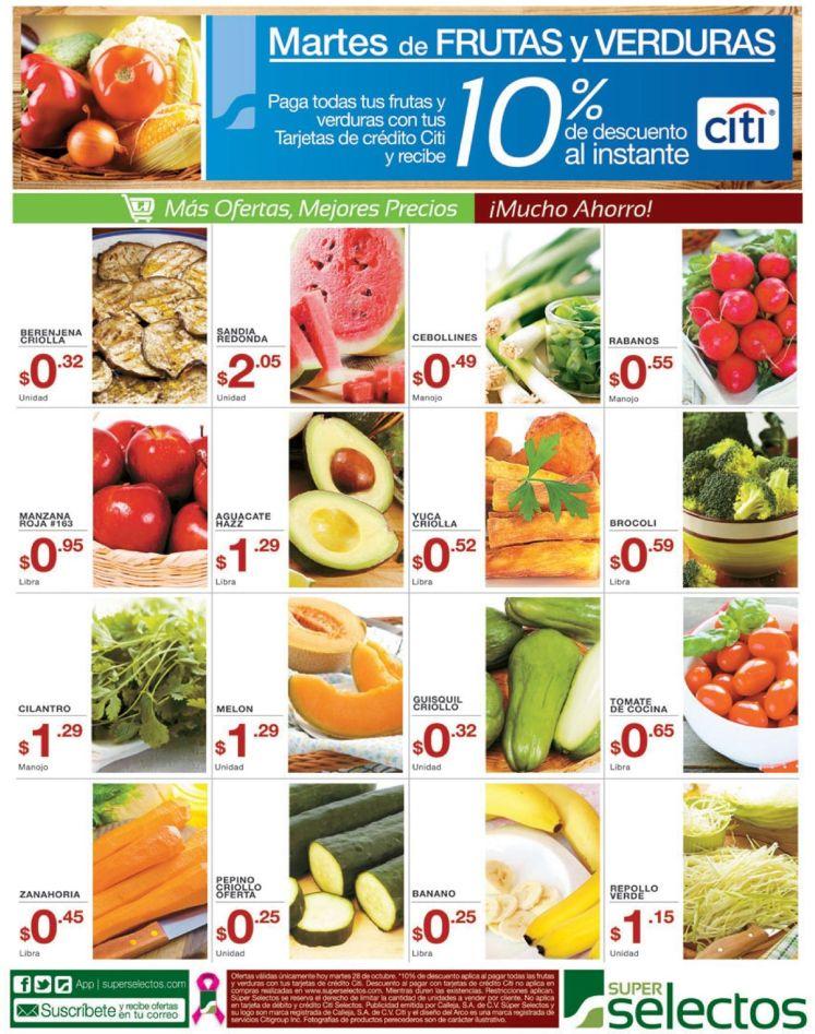 Super selectos precios bajos en frutas y verduras - 28oct14