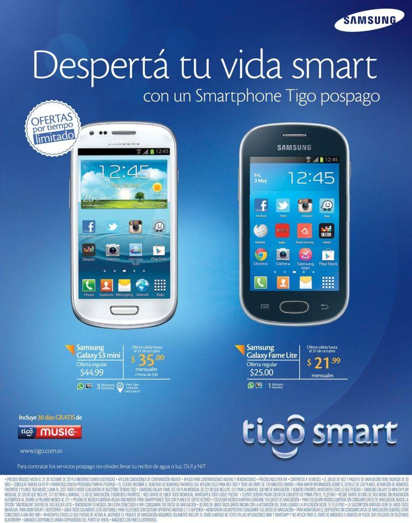 TIGO Planes telefonia movil desde 21 dolares con 99 centavos - 28oct14