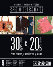 Una semana completa de DESCUENTOS especiales Prisma Moda - 24oct14